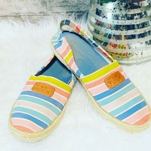 Coach Margret / Striped Canvas Espadrilles Size 7